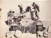 włoscy oficerowie oglądają zdobyty angielski czołg